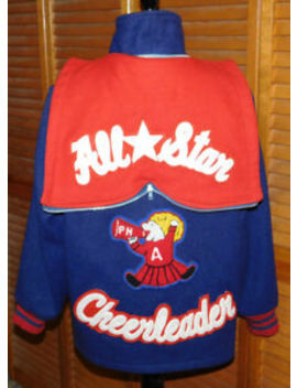 Vintage Pepster Hall Allstar Cheerleader Wool Letterman Style Jacket Size 12 by Pepster Hall