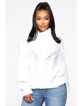 Cozy Girl Turtleneck Sweater   Ivory by Fashion Nova