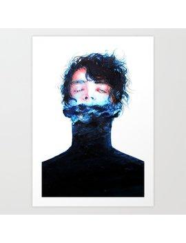 Stille Wasser Sind Tief Art Print by Society6