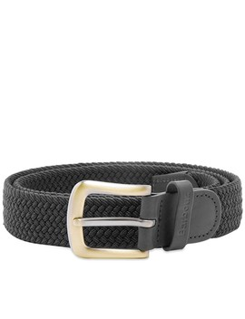 Barbour Stretch Webbing Leather Belt by Barbour