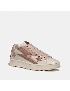 C101 Low Top Sneaker With Glam Rock by Coach