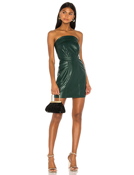 Cobain Vegan Leather Dress In Emerald by Kendall + Kylie