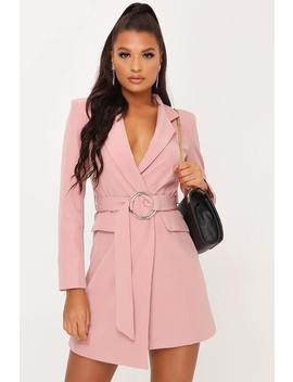 Nude Ring Belted Blazer Dress by I Saw It First