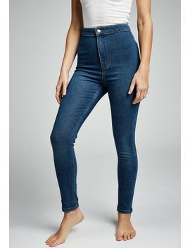 Ultra High Super Stretch Jean   Blue by Cotton On