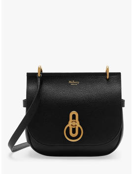 Mulberry Small Amberley Classic Grain Leather Satchel Bag, Black by Mulberry