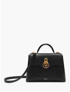 Mulberry Mini Seaton Classic Grain Leather Shoulder Bag, Black by Mulberry