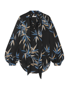 cleone-pussy-bow-printed-satin-blouse by equipment