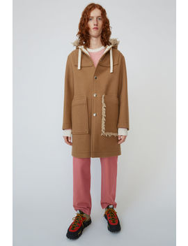 Oversized Wool Coat Camel Brown by Acne Studios