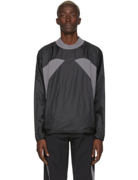 Grey & Black Asics Edition Carbon T Shirt by Kiko Kostadinov