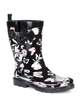 Mid Calf Butterfly Print Rain Boots Mid Calf Butterfly Print Rain Boots by Capelli New York Capelli New York