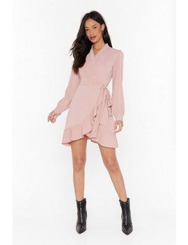 Just Wrap It Up Ruffle Mini Dress by Nasty Gal