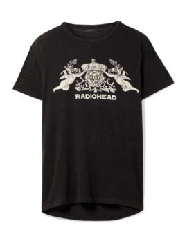 Bearhead Crest Boy Oversized Printed Cotton Blend Jersey T Shirt by R13