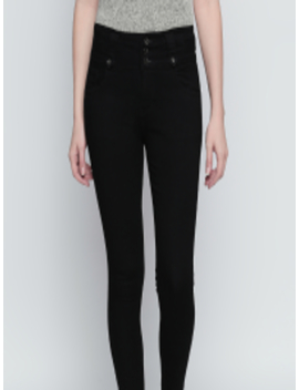 Women Black Slim Fit High Rise Clean Look Stretchable Jeans by High Star