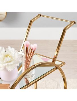Gold Round Beauty Cart by P Bteen