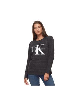 Calvin Klein Women's Urban Ck Logo Sweatshirt   Urban Grey by Calvin Klein
