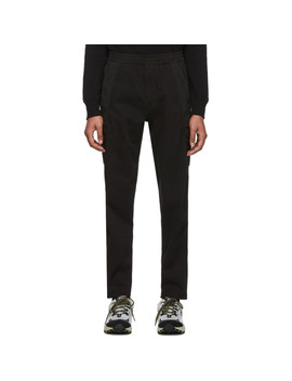 Black Ghost Cargo Pants by Stone Island