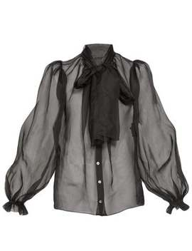 Balloon Sleeve Silk Organza Blouse by Dolce & Gabbana