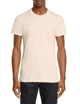 Embroidered Logo T Shirt by Helmut Lang