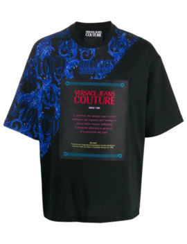 Baroque Print T Shirt by Versace Jeans Couture
