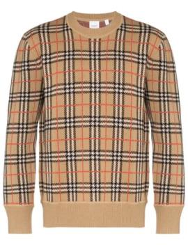 Checked Jacquard Sweatshirt by Burberry