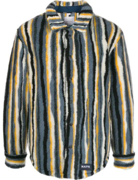 Striped Faux Shearling Shirt Jacket by Napa By Martine Rose
