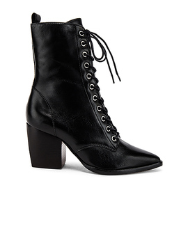 Lace Up Boot In Black by Schutz