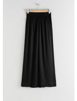 Satin Wide Leg Flowy Trousers by & Other Stories