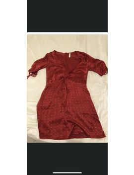 Bec And Bridge Tulipe Mini Red Gold Dot Ruched Dress Size 8 by Bec &Amp; Bridge