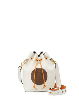 Fendi Mon Tressor Contrast Leather Bucket Bag by Fendi