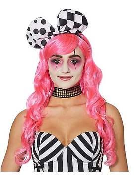 Harlequin Clown Bow Headband by Spirit Halloween