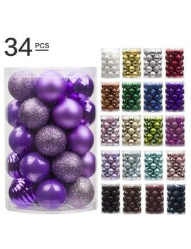 34 Pcs 40mm Christmas Xmas Tree Ball Bauble Hanging Bauble Ornament Decoration by Ebay Seller