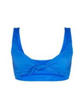 Blue Mix & Match Ribbed High Waisted High Leg Bikini Bottom by Prettylittlething