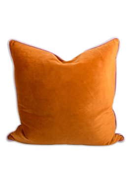 Yves Velvet Pillow   Saffron + Lilac by Furbish Studio