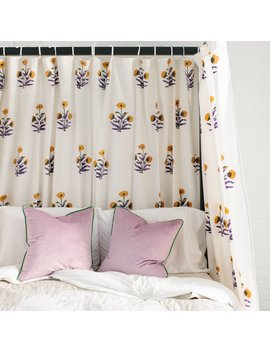 Marigold Tie Top Curtains by Furbish Studio