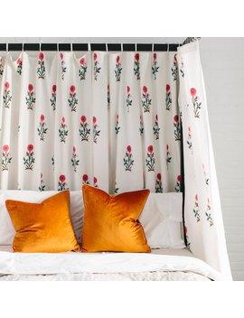 Paradise Flower Tie Top Curtains by Furbish Studio