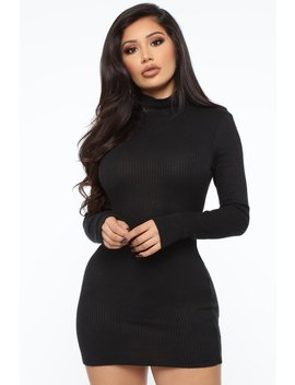 Ready For Whatever Ribbed Mini Dress   Black by Fashion Nova