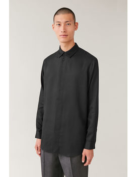 Hidden Button Long Sleeved Shirt by Cos