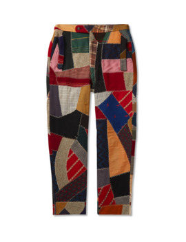 Patchwork Wool Trousers by Bode