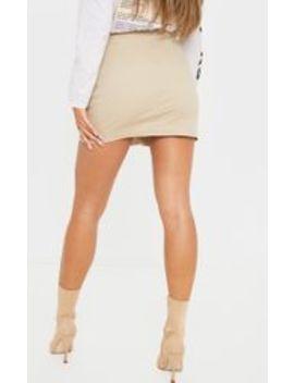 Stone Denim Cammie Mini Skirt by Prettylittlething