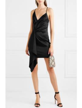 Draped Asymmetric Silk Charmeuse Mini Dress by Cushnie