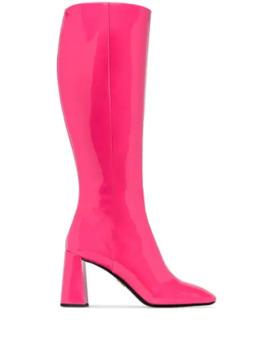 Knee High Mid Heel Boots by Prada