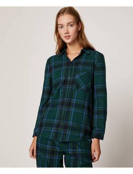 Camisa Cuadros Verdes by Oysho