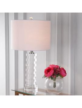 "Sasha 25"" Crystal Led Table Lamp, Clear By Jonathan Y by Jonathan Y"