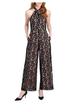 Lace Knotted Halter Wide Leg Jumpsuit Lace Knotted Halter Wide Leg Jumpsuit by Julia Jordan Julia Jordan