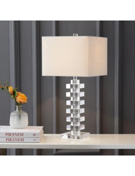 "June 28"" Crystal Led Table Lamp, Clear By Jonathan Y by Jonathan Y"