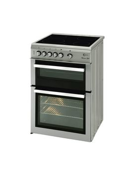 Milano Ml61 Cds Electric Ceramic Cooker   Silver & Chrome by Currys