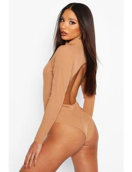 high-neck-open-back-bodysuit by boohoo