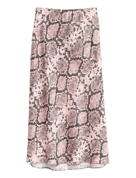 Snake Print Midi Slip Skirt by Banana Repbulic