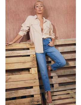 The Leo Blue High Waist Mom Jeans by In The Style
