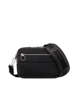Safari Messenger Bag In Black Calfskin by Dior